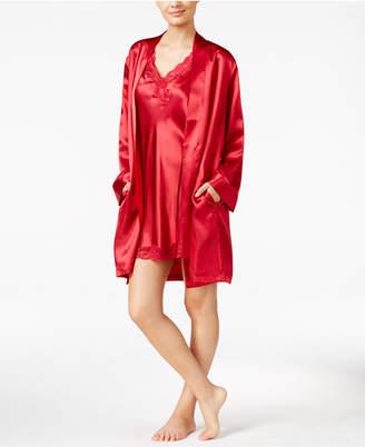 Thalia Sodi Satin Short Wrap Robe