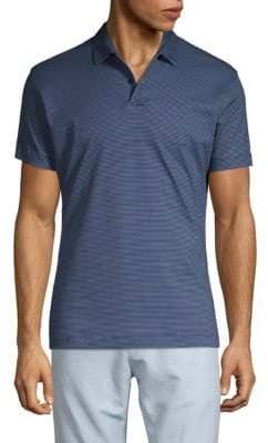 Shaped Striped Polo Shirt