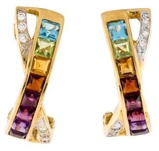 H.Stern 18K Multistone & Diamond Earrings