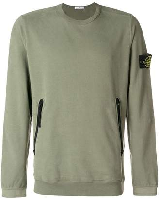 Stone Island zipped pocket sweatshirt