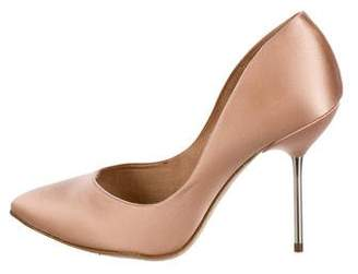 Pedro Garcia Satin Pointed-Toe Pumps