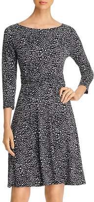 Leota Ilana Printed Shirred-Waist Dress