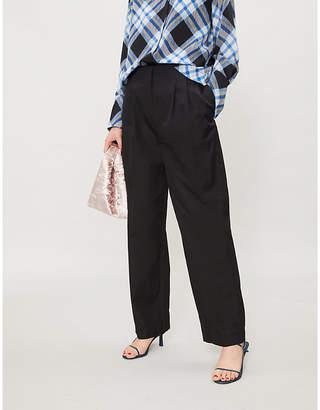 Diane von Furstenberg Wide-leg cotton trousers