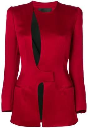 Haider Ackermann cut out detail fitted blazer