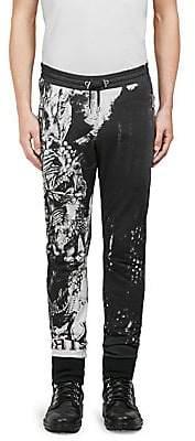Balmain Men's Graphic-Print Cotton Pants