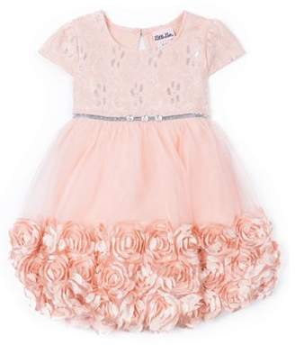 b8b1f432d Little Lass 3D Floral Occasion Dress (Little Girls)