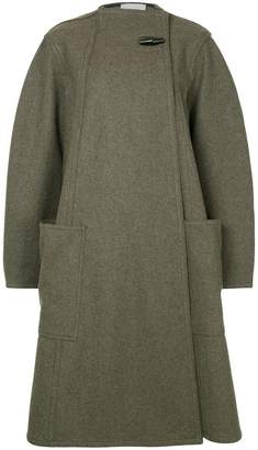 Lemaire off-centre button coat