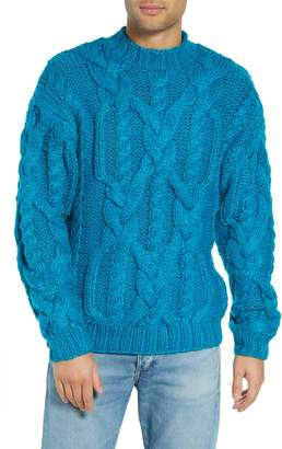 Topman Classic Cable Knit Sweater