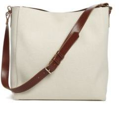 Lanvin Medium Coated-Canvas Hobo Bag $1,295 thestylecure.com