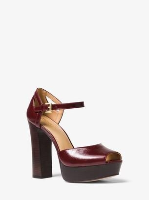 c1ddd70de9a MICHAEL Michael Kors Brown Leather Lined Women s Sandals - ShopStyle
