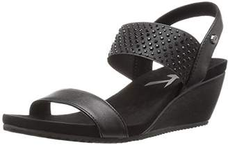 Anne Klein AK Sport Women's Castie Synthetic Wedge Sandal