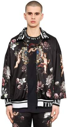 Dolce & Gabbana Angels Printed Jersey Track Jacket
