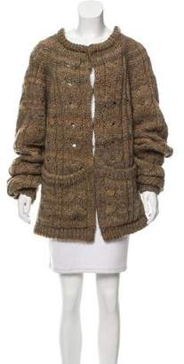 Rachel Zoe Hooded Cable Knit Cardigan