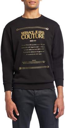 Versace Men's Warranty Logo Graphic Pullover Sweatshirt