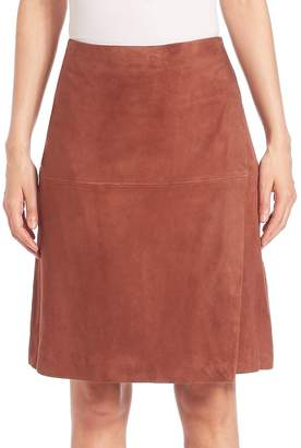 SET Women's Suede Wrap Skirt