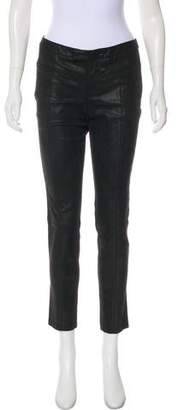 Helmut Lang Textured Leather Skinny Pants