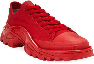Adidas By Raf Simons Men's Detroit Runner Canvas Sneakers, Red