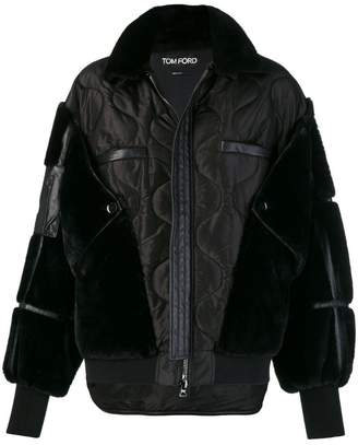 Tom Ford patchwork zipped jacket