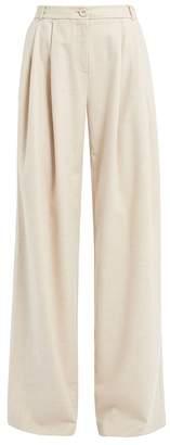 Wtr WtR Ethel Cream Wool Blend Trousers