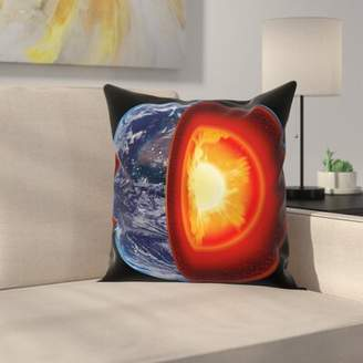 East Urban Home Earth Hot Burning Earth Core Square Pillow Cover East Urban Home