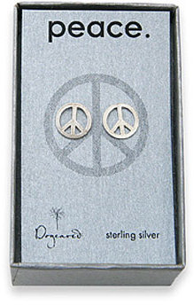 Dogeared Peace Stud Sterling Silver Earrings