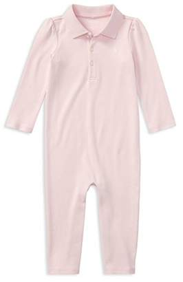 Ralph Lauren Girls' Polo Coverall - Baby