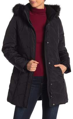 Gerry Sara Faux Fur Trim Down Parka