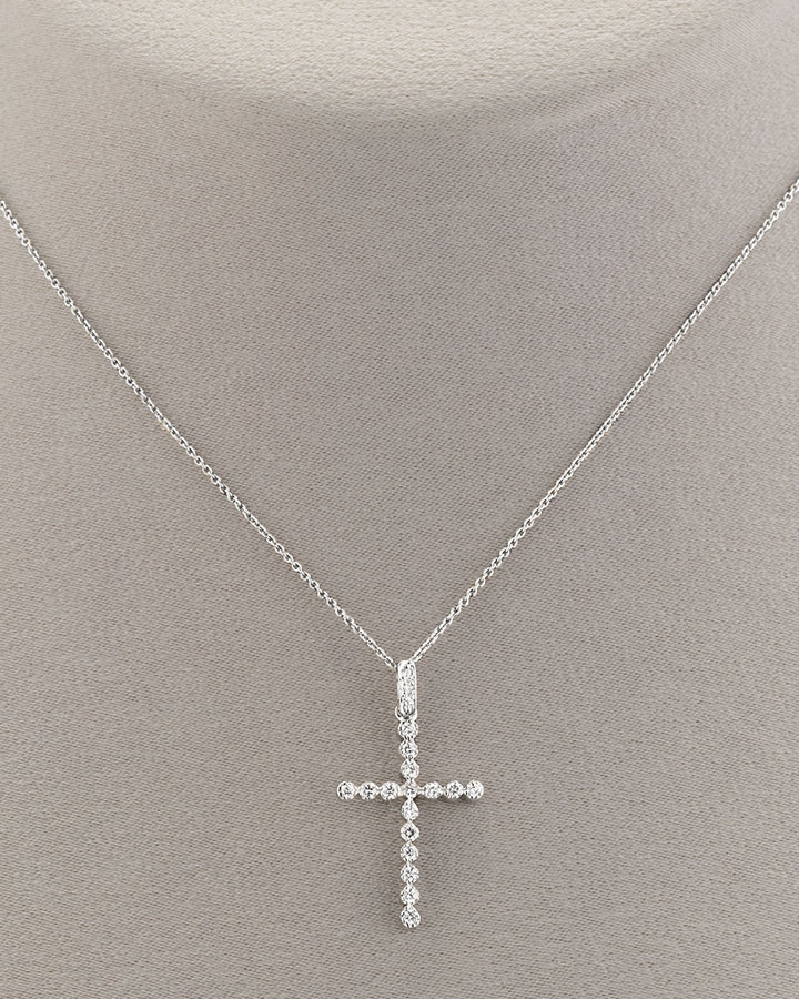 Roberto Coin Large Diamond Cross Necklace