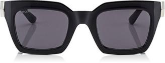 Jimmy Choo MAIKA Grey Cat Eye Sunglasses with Black Frame