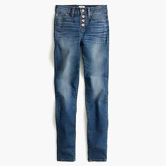 """J.Crew 9"""" high-rise toothpick jean in Daly wash with button fly"""