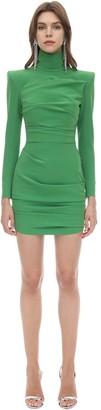 Alex Perry Techno Crepe Mini Dress