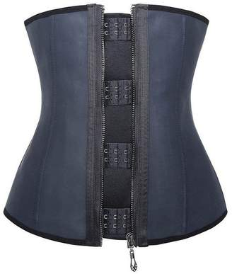 Hunter Little Women Hooks & Zipper Waist Trainer Cincher Latex Steel Boned Underbust Corsets