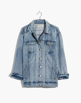 Madewell The Oversized Jean Jacket in Junction Wash