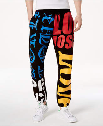 Love Moschino Men Graphic-Print Jogger Pants