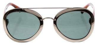 Valentino Metal Aviator Sunglasses w/ Tags