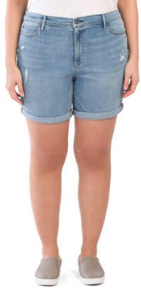 Plus High Rise Jean Shorts