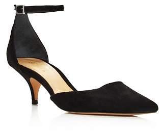 Schutz Women's Kamilli Suede Pointed Toe Ankle Strap Pumps