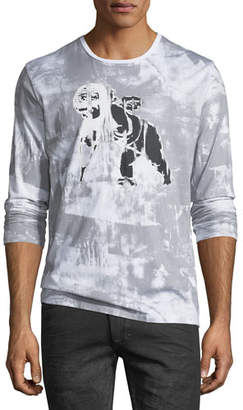 PRPS Cherub-Graphic Distressed Long-Sleeve T-Shirt