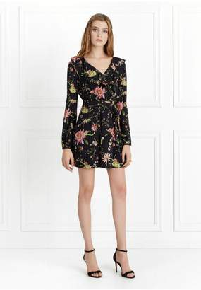 Rachel Zoe Drea Cactus Flower Printed Wrap Dress