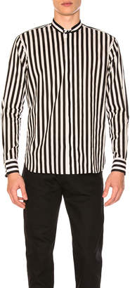 Saint Laurent Striped Long Sleeve Shirt