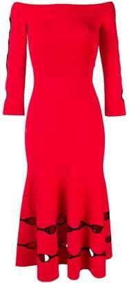 Alexander McQueen off-the-shoulder midi dress