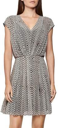 Reiss Marcy Bead Print Dress