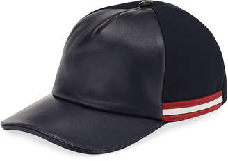 Bally Leather-Front Baseball Hat