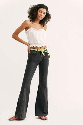 Free People Wrangler Seamed Flare Jeans by Denim