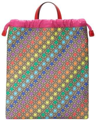 Gucci Kids Children's GG rainbow star backpack