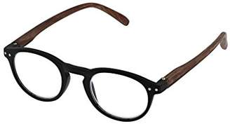Peepers Unisex-Adult Style Eleven - 2529175 Rectangular Reading Glasses, Black & Brown, 1.75