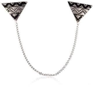 SIYWINA New Simple Elegant Fashion Triangle Collar Pin Brooch Classic Design