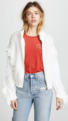 Wildfox Couture Christophe Zip Cardigan
