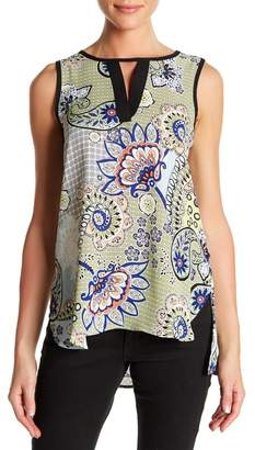 Spense Printed Split Keyhole Tunic