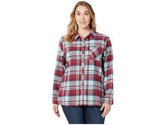 Columbia Plus Size Simply Puttm II Flannel Shirt